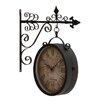 Lark Manor Metal Double Side Wall Clock