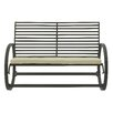 Cole & Grey Metal and Fabric Garden Bench