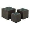 Cole & Grey 3 Piece Square Planter Box Set