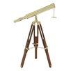 Cole & Grey Brass Wood Telescope