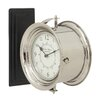 "Cole & Grey 12"" Stainless and Steel Wood Double Wall Clock"