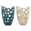 Cole & Grey 2 Piece Ceramic Vase Set