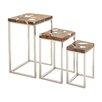 Cole & Grey 3 Piece Nesting Tables Set