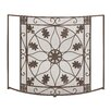 Cole & Grey Single Panel Metal Fireplace Screen