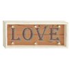 Cole & Grey Wood LED Love Sign Wall Décor