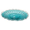 Cole & Grey Glass Fluted Plate