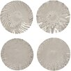 Cole & Grey 4 Piece Stainless Steel Wall Platter Set (Set of 4)
