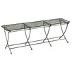 Cole & Grey Metal Picnic Bench