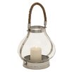 Cole & Grey Stainless Steel and Glass Lantern