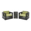 Cole & Grey 3 Piece Deep Seating Group Set with Cushion