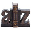 Cole & Grey Wood Book Ends (Set of 2)