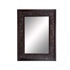 Cole & Grey Wood Bevelled Mirror