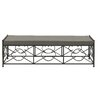 Cole & Grey Metal and Fabric Picnic Bench