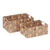 Cole & Grey 2 Piece Metal Wicker Basket Set