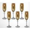 Three Star Im/Ex Inc. Flute/Champagne Glass (Set of 6)
