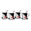 Three Star Im/Ex Inc. 3 Piece Cup, Saucer and Spoon Set (Set of 4)