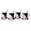 Three Star Im/Ex Inc. 4 Piece Cup, Saucer and Spoon Set (Set of 4)