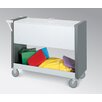 Charnstrom Long File Cart with Casters and Locking Top