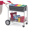 Charnstrom Medium Wire Basket File Cart with Front Bumper