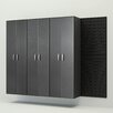 "Flow Wall 72"" H x  96"" W x 17"" D 4 Piece Tall Cabinet Set"