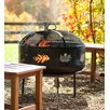 Plow & Hearth Wood Burning Fire Pit with Leaf Design