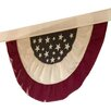 Plow & Hearth Half-Round American Flag Bunting