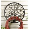 Tree of Life Metal Wall Mounted Hose Holder - Plow & Hearth Hose Reels