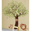 Pop Decors Leaf Tree with Cute Animals Wall Decal