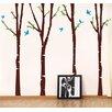Pop Decors 4 Super Birch Trees Wall Decal