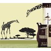 Pop Decors Little Giraffe and His Mother Wall Decal
