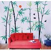 Pop Decors Bamboo Forest with Flying Birds Wall Decal
