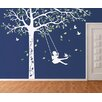 Pop Decors Tree with Swing Girl Wall Decal