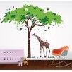 Pop Decors Africa Tree and Giraffe Wall Decal