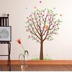 Pop Decors Flower Tree with Cute Owl Wall Decal