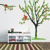 Pop Decors Cherry Tree with Squirrels Wall Decal