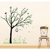 Pop Decors Spring Tree and Reed Flowers Wall Decal