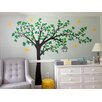 Pop Decors Big Tree with Love Flying Birds Right Leaning Tree Wall Decal