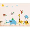 Pop Decors Cute Animals in The Jungle Wall Decal