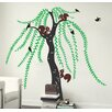 Pop Decors Big Willow and Squirrel Wall Decal