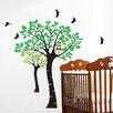 Pop Decors Owl and Trees Wall Decal