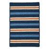 Colonial Mills Painter Stripe Set Sail Blue Indoor/Outdoor Area Rug
