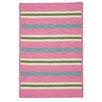 Colonial Mills Painter Stripe Spring Pink Indoor/Outdoor Area Rug