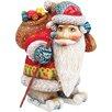 G Debrekht Derevo Downhill Santa Figurine