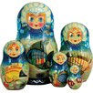 G Debrekht Russian 5 Piece Sea Princess Nested Doll Set