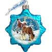 G Debrekht Keepsake Santa's Horse Glass Ornament