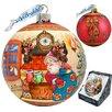 G Debrekht Holiday Limited Edition Christmas Night Glass Ball Ornament