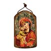 G Debrekht Inspirational Icon Holy Virgin Mary Wooden Ornament