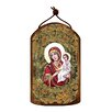 G Debrekht Inspirational Icon Virgin Mary Directress Wooden Ornament