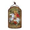 G Debrekht Inspirational Icon Saint George Wooden Ornament
