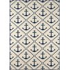 Momeni Baja Ivory/Navy Indoor/Outdoor Area Rug